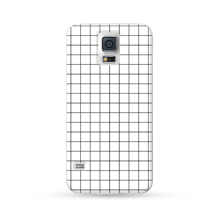 Samsung Galaxy Case Checks White | Ultra-case.com