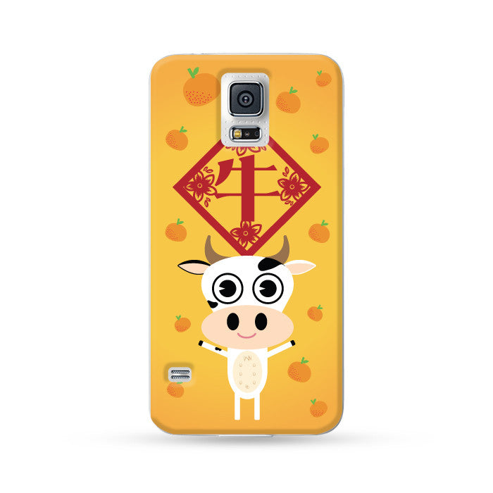 Samsung Galaxy Case Chinese Zodiac Buffalo Mandarin Orange | Ultra-case.com