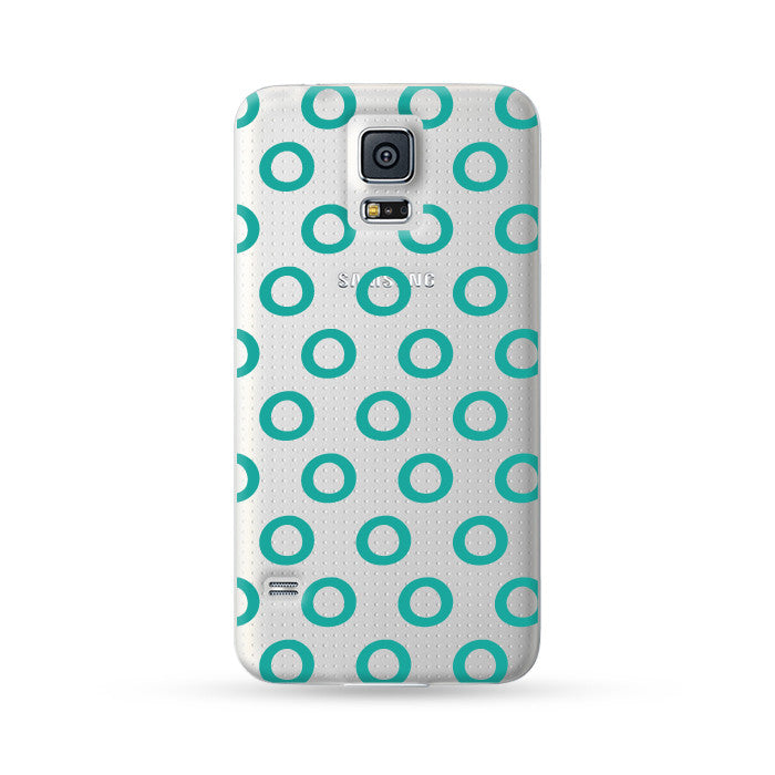 Samsung Galaxy Case Circle Cyan | Ultra-case.com