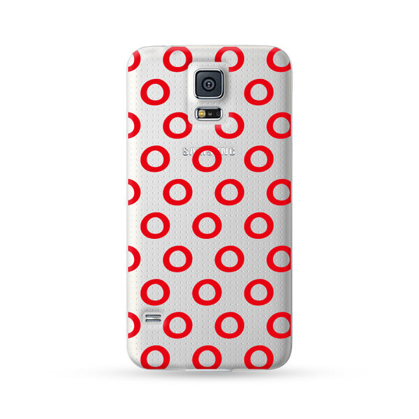 Samsung Galaxy Case Circle Red | Ultra-case.com
