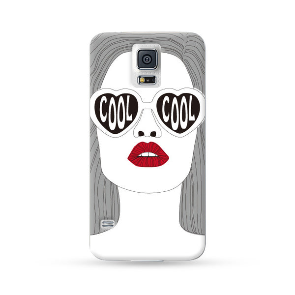 Samsung Galaxy Case Cool Lady Red | Ultra-case.com