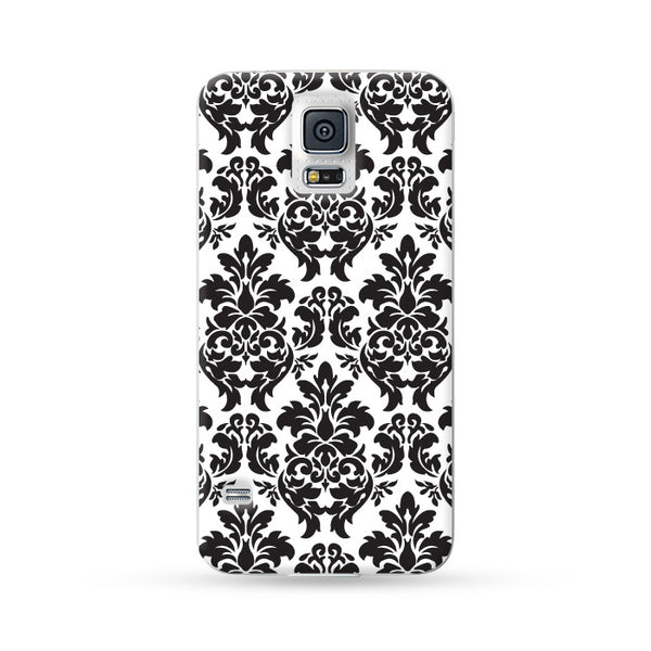 Samsung Galaxy Case Floral Black 1| Ultra-case.com