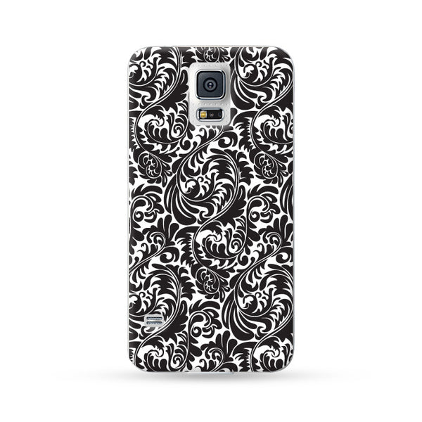 Samsung Galaxy Case Floral Black 2 | Ultra-case.com
