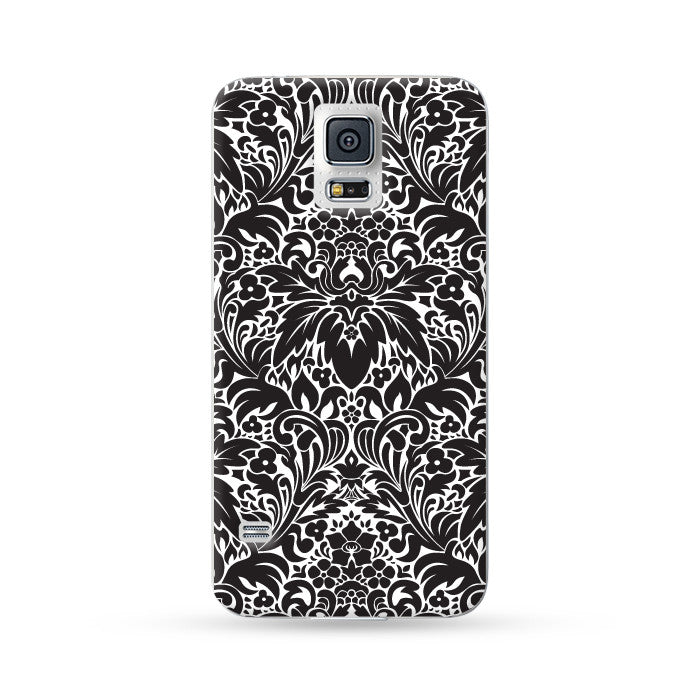 Samsung Galaxy Case Floral Black 3 | Ultra-case.com