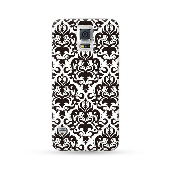 Samsung Galaxy Case Floral Black 4 | Ultra-case.com