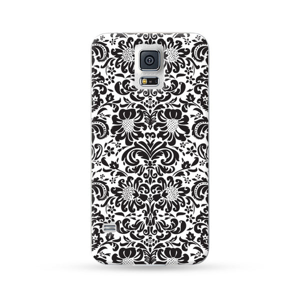 Samsung Galaxy Case Floral Black 5 | Ultra-case.com
