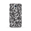 Samsung Galaxy Case Floral Black 6 | Ultra-case.com