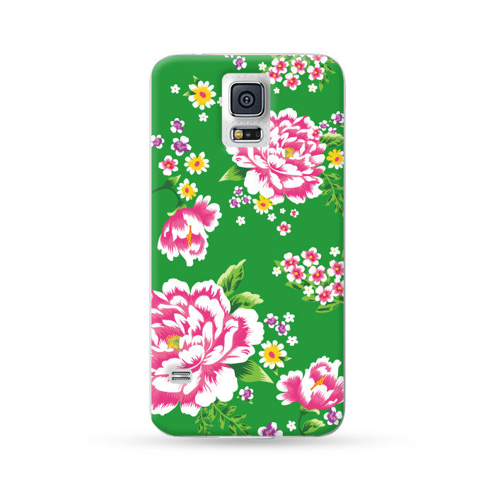 Samsung Galaxy Case Hong Kong Style Chinese Flower Green | Ultra-case.com