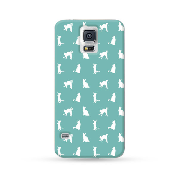 Samsung Galaxy Case Kitten Cyan | Ultra-case.com