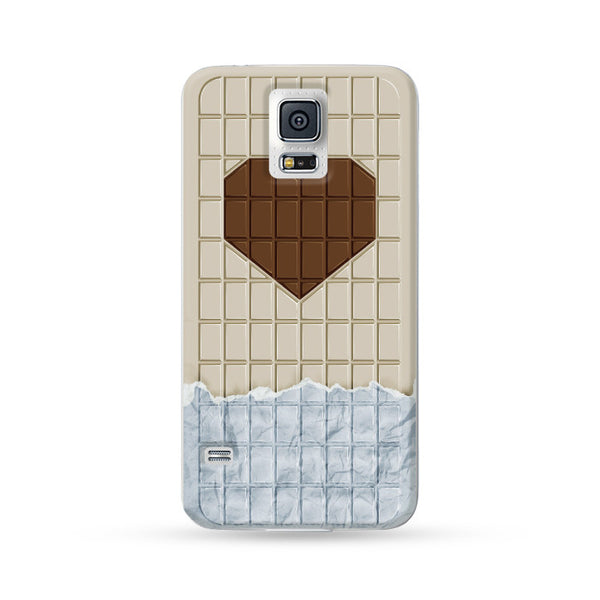 Samsung Galaxy Case Love Chocolate White | Ultra-case.com