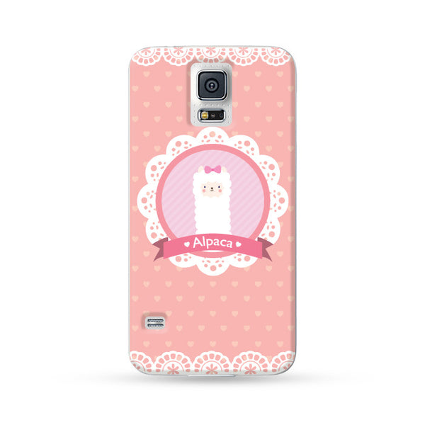 Samsung Galaxy Case Ms. Alpaca Baby Pink | Ultra-case.com
