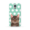 Samsung Galaxy Case My Pets Cat Cyan 1 Dots | Ultra-case.com