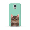 Samsung Galaxy Case My Pets Cat Cyan 2 | Ultra-case.com
