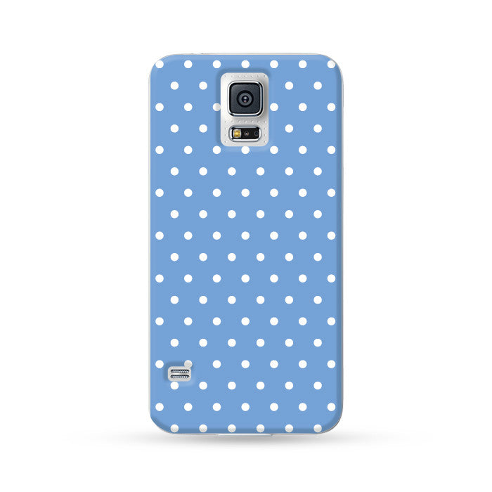 Samsung Galaxy Case Polka Dots Baby Blue | Ultra-case.com