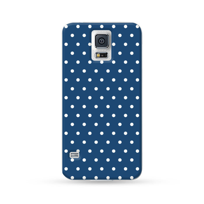 Samsung Galaxy Case Polka Dots Blue | Ultra-case.com