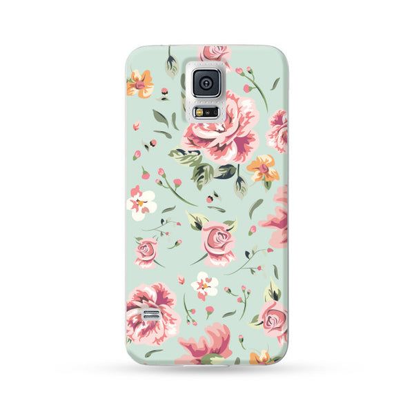 Samsung Galaxy Case Rose Cyan | Ultra-case.com