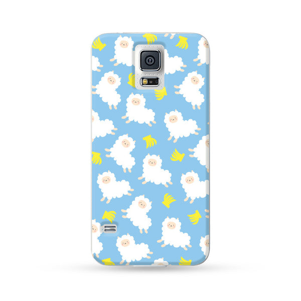 Samsung Galaxy Case Running Alpaca Blue 1 | Ultra-case.com
