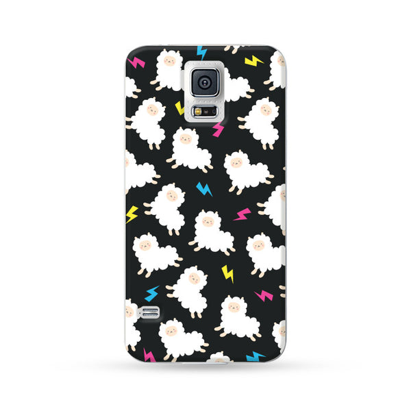 Samsung Galaxy Case Running Alpaca Black 2 | Ultra-case.com