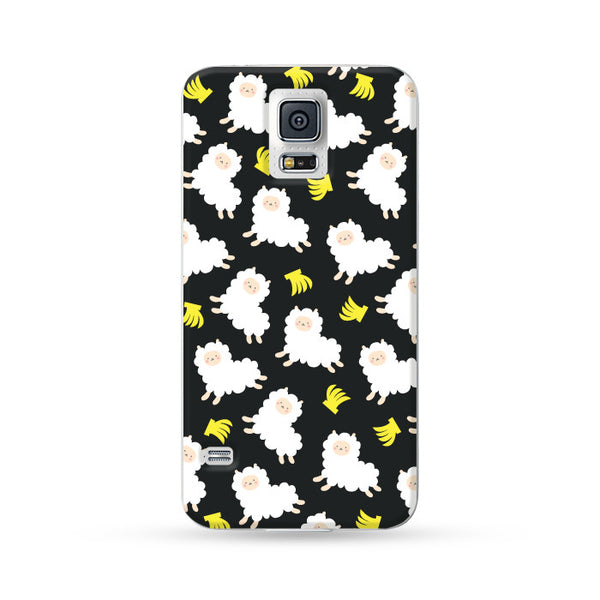 Samsung Galaxy Case Running Alpaca Black 1 | Ultra-case.com