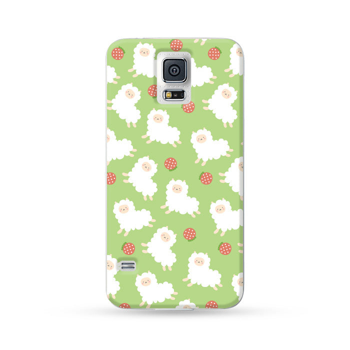 Samsung Galaxy Case Running Alpaca Green | Ultra-case.com