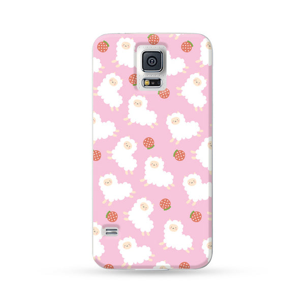 Samsung Galaxy Case Running Alpaca Pink | Ultra-case.com