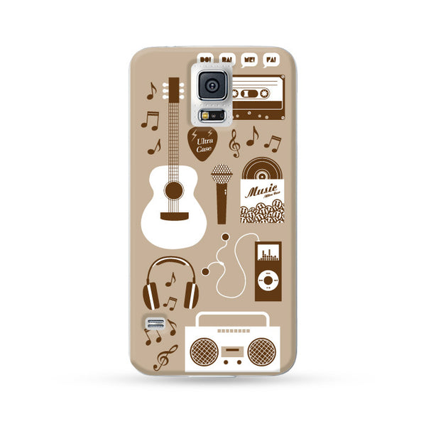 Samsung Galaxy Case Ultra Music Brown | Ultra-case.com