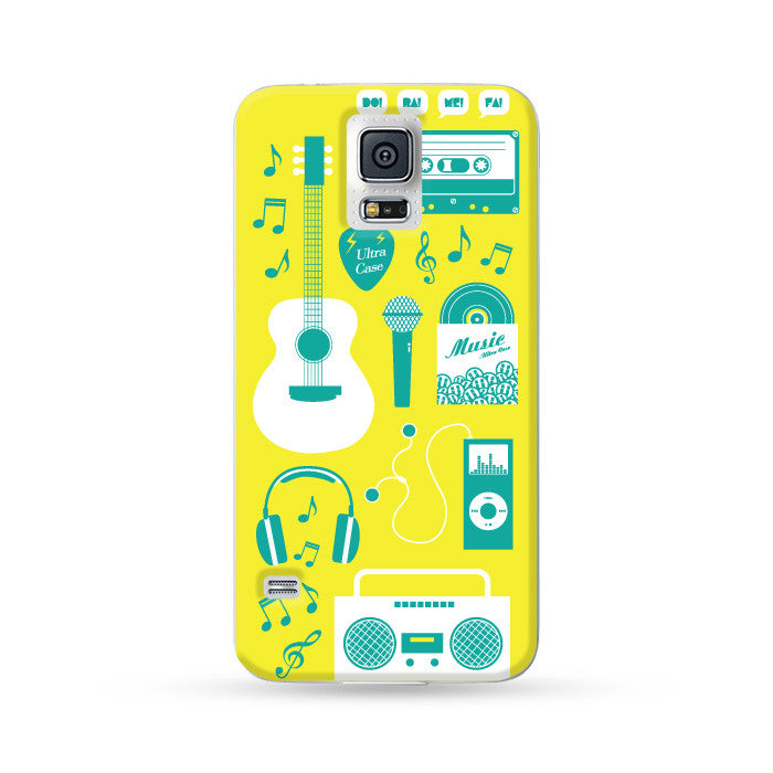 Samsung Galaxy Case Ultra Music Yellow | Ultra-case.com