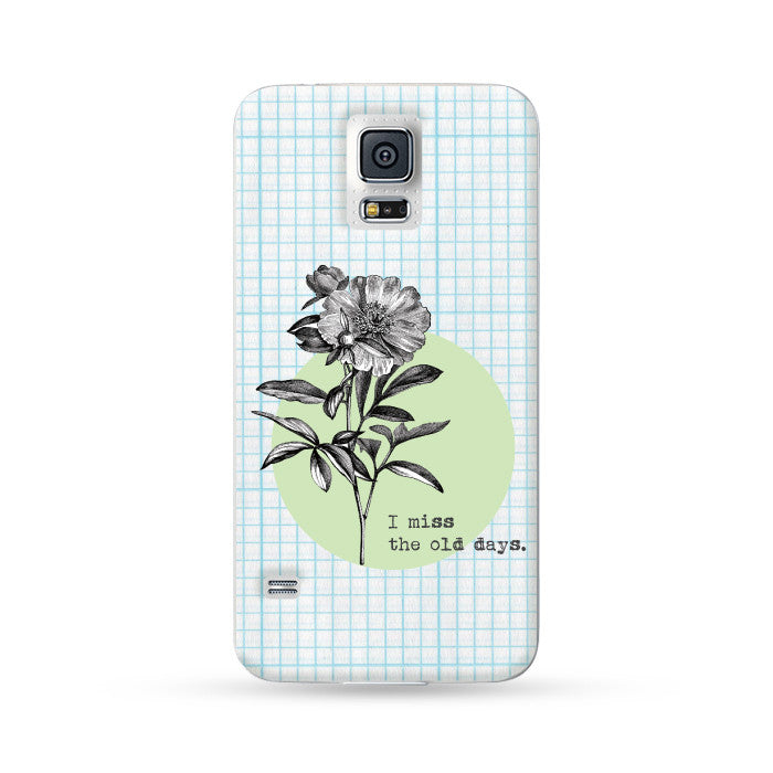 Samsung Galaxy Case Vintage Chrysanthemum Blue | Ultra-case.com