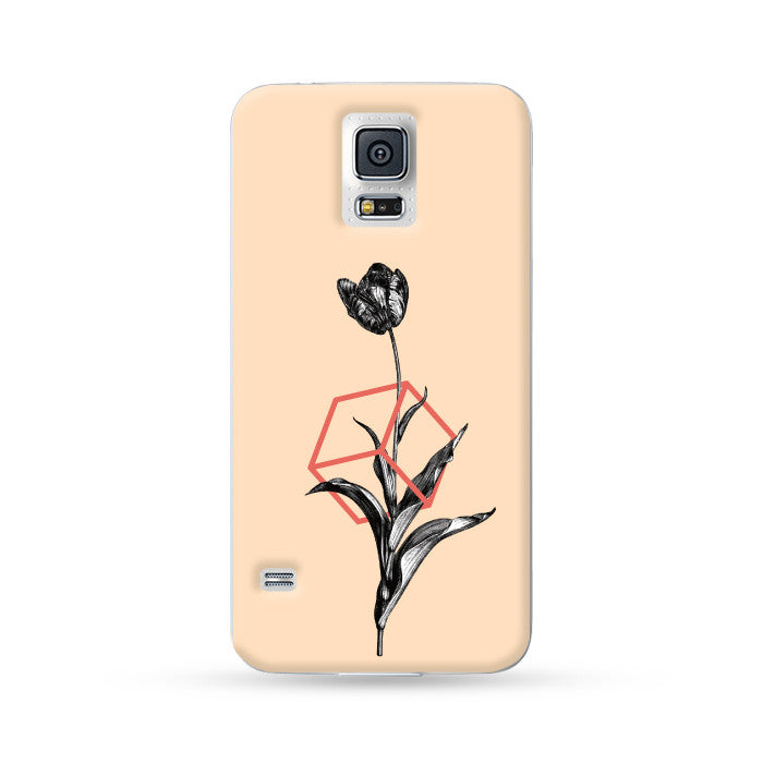 Samsung Galaxy Case Vintage Tulipa Yellow | Ultra-case.com