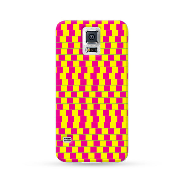 Samsung Galaxy Case Visual Illusion Yellow | Ultra-case.com
