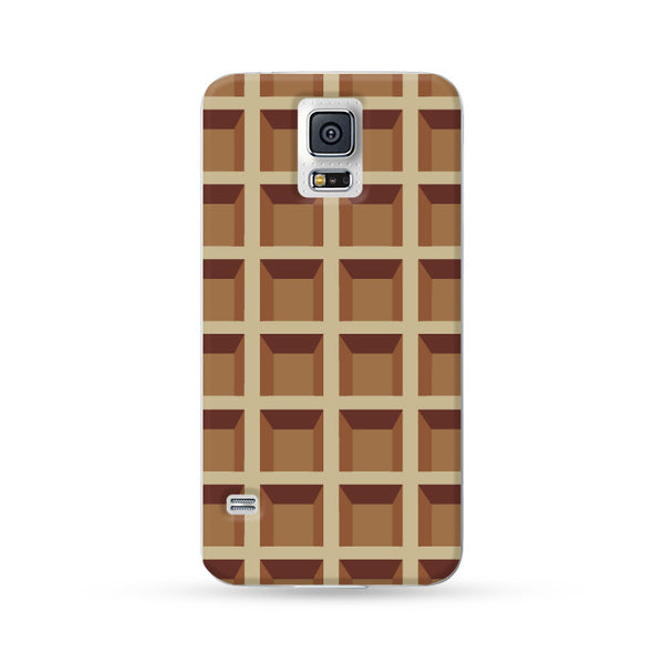 Samsung Galaxy Case Waffle Brown | Ultra-case.com