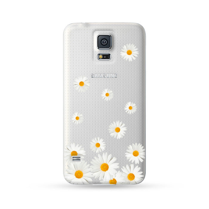 Samsung Galaxy Case White Flowers | Ultra-case.com