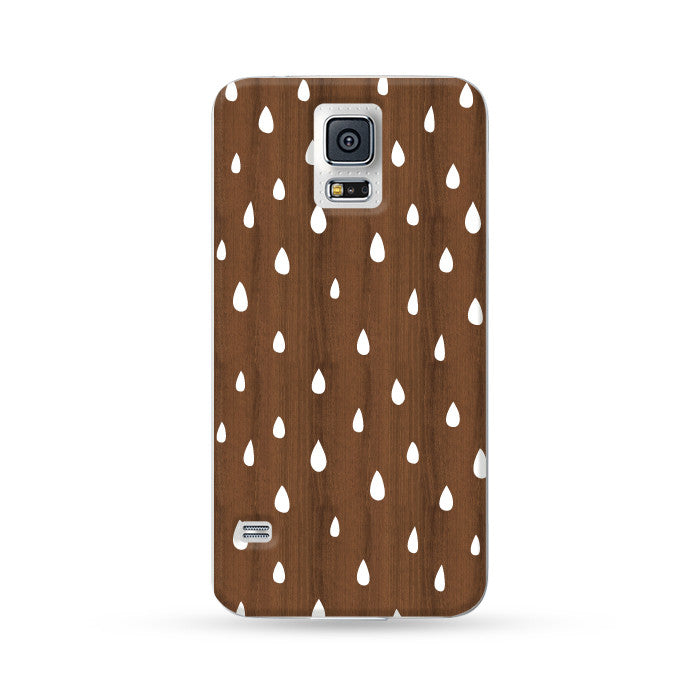 Samsung Galaxy Case Woodwood Brown 01 Raindrops | Ultra-case.com