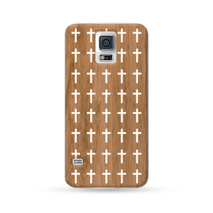 Samsung Galaxy Case Woodwood Brown 10 Cross | Ultra-case.com