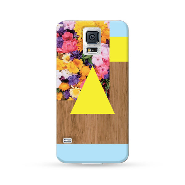 Samsung Galaxy Case Woodwood Brown 12 Yellow + Blue | Ultra-case.com