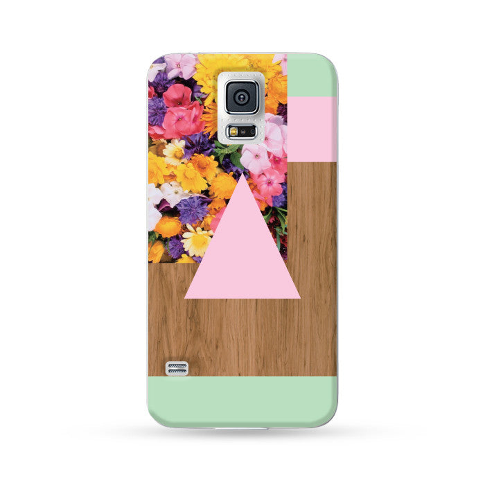 Samsung Galaxy Case Woodwood Brown 13 Pink + Green | Ultra-case.com