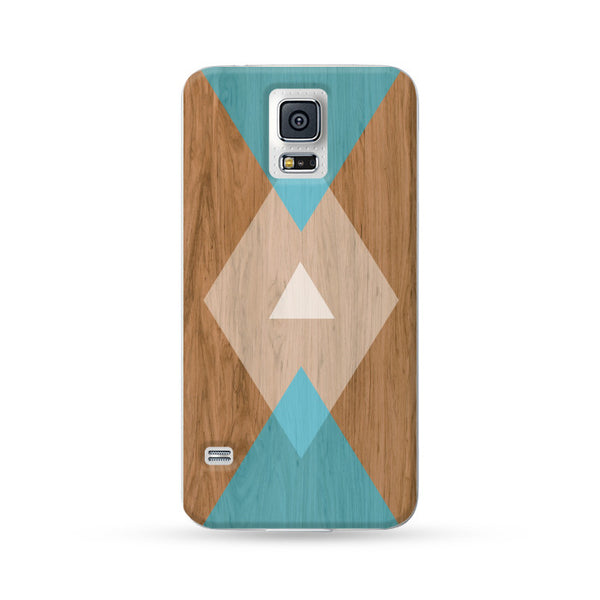 Samsung Galaxy Case Woodwood Brown 05 Blue | Ultra-case.com