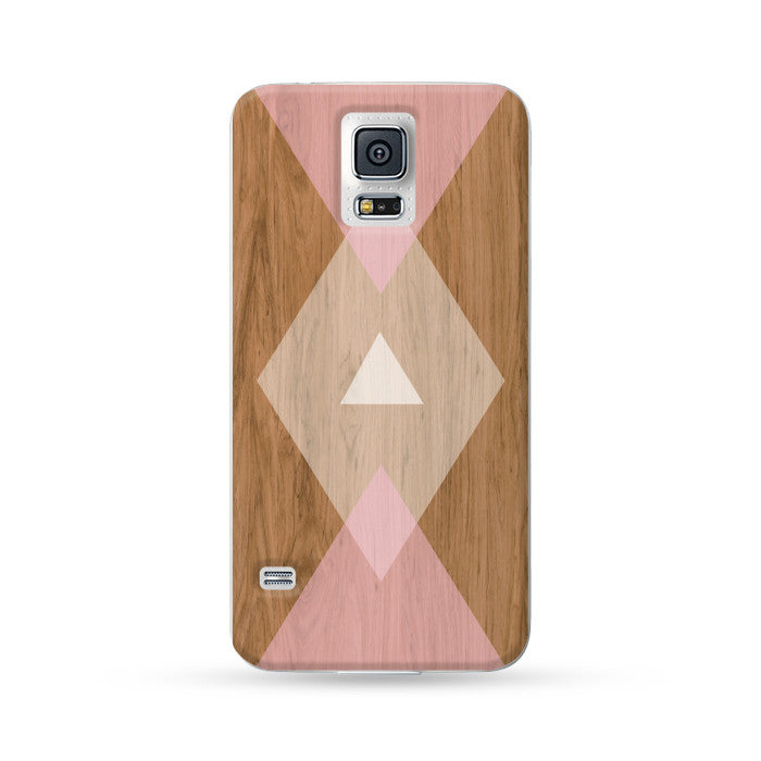Samsung Galaxy Case Woodwood Brown 06 Pink | Ultra-case.com