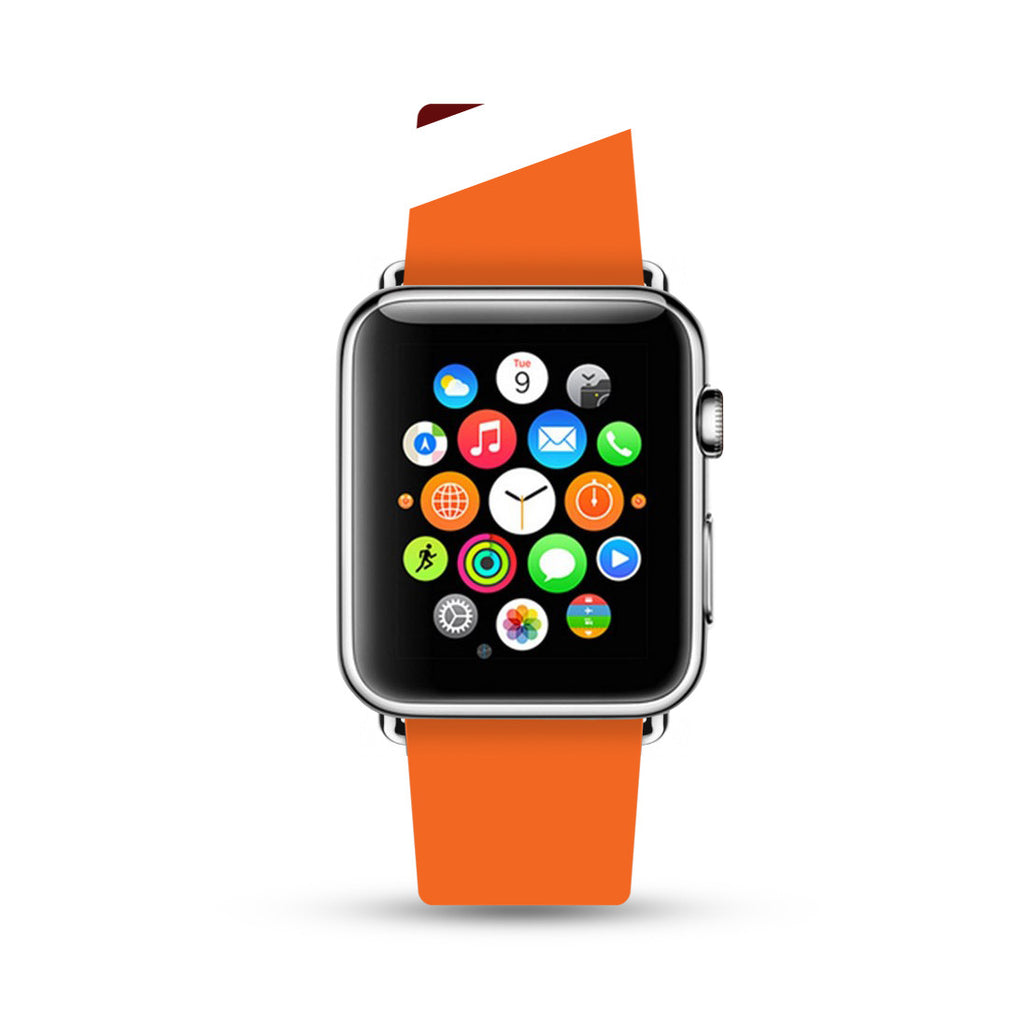 Red Orange Stripes Pattern Apple Watch Strap Band 38 42 mm | Ultra-case.com