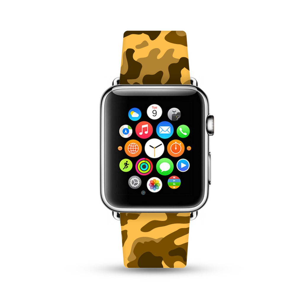 Brown Camouflage Pattern Watch Band Strap for Apple Watch -  38mm / 40mm  , 42mm / 44mm