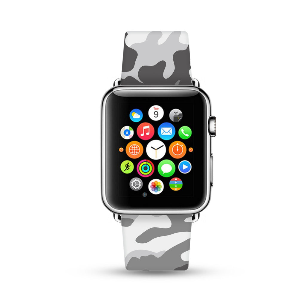 Green Camouflage Pattern Watch Band Strap for Apple Watch -  38mm / 40mm  , 42mm / 44mm