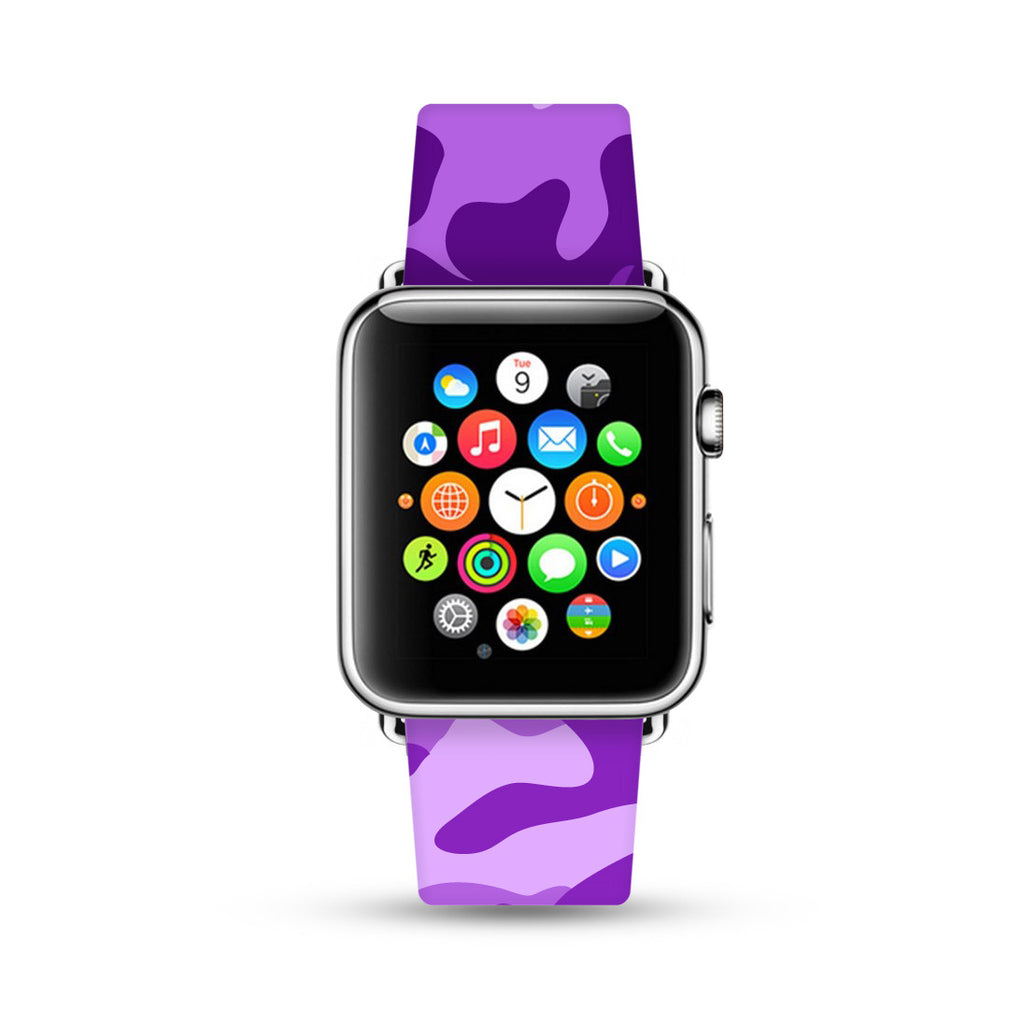 Purple Camouflage Pattern Watch Band Strap for Apple Watch -  38mm / 40mm  , 42mm / 44mm