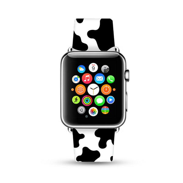 Milk Cow Pattern Watch Band Strap for Apple Watch -  38mm / 40mm  , 42mm / 44mm