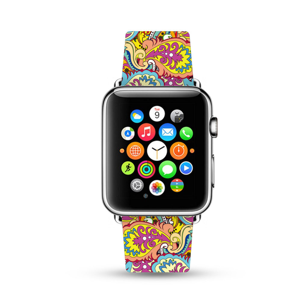 Paisley Colorful Pattern Apple Watch Strap Band 38 42 mm | Ultra-case.com