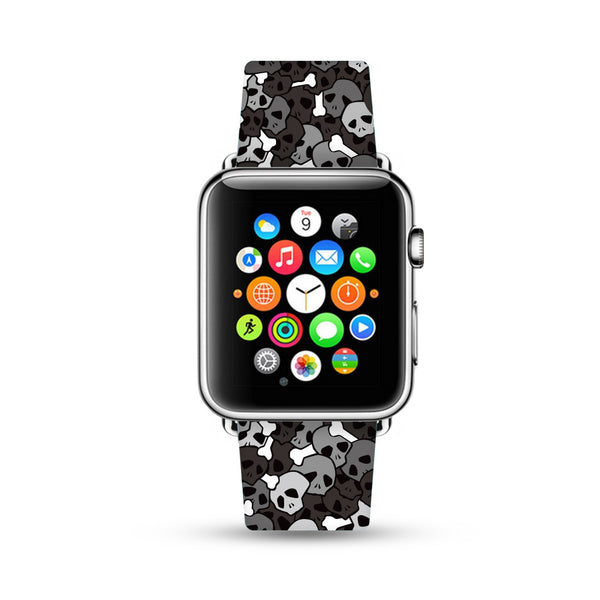 Black Skull Pattern Apple Watch Strap Band 38mm / 40mm  , 42mm / 44mm | Ultra-case.com