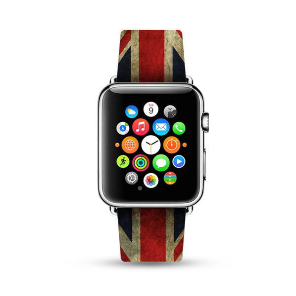 UK British England Flag Watch Band Strap for Apple Watch -  38mm / 40mm  , 42mm / 44mm