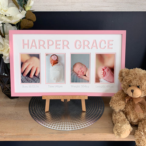 Personalised Name and Birth Details Wall Art