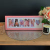 Personalised Word Frames - Create your own word - SMALL SIZE - Father's Day