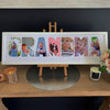 "Personalised Word Frames - Create your own word - LARGE SIZE - suits 4""x6"" photos!"