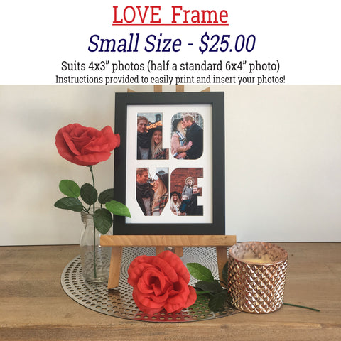 Valentine's Day LOVE Frames - SMALL SIZE